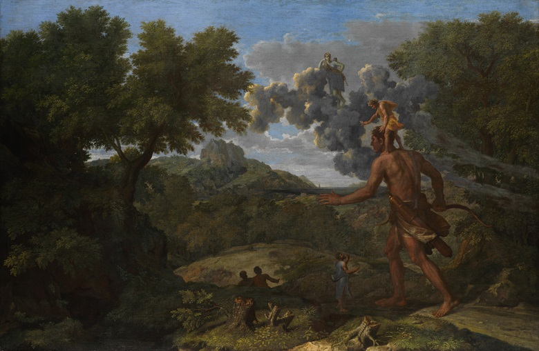 Sold at Christie's in 1819 Nicolas Poussin (1594-1665), Blind Orion Searching for the Rising Sun, 1658. Oil on canvas. 46⅞ x 72 in (119.1 x 182.9 cm). Fletcher Fund, 1924. The Metropolitan Museum of Art, New York. Accession Number 24.45.1.