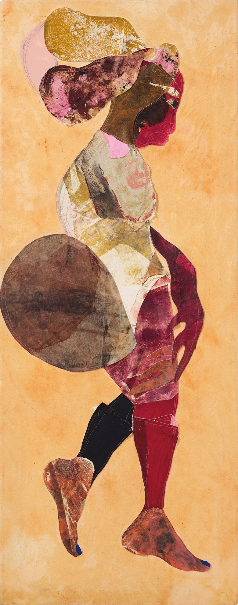 Tschabalala Self, Love to Saartjie, 2015. Oil, acrylic and dye on canvas. 26 x 66 in (66 x 168 cm). Estimate £50,000-70,000. Offered in the Post-War and Contemporary Art Day Sale on 13 February 2020 at Christie's in London