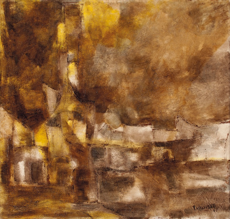Akbar Padamsee (1928-2020), Paysage, 1961. Oil on board. 39⅛ x 39¾ in (99.4 x 101 cm). Estimate $300,000-500,000. Offered in A Lasting Engagement The Kito and Jane de Boer Collection on 18 March 2020 at Christie's in New York