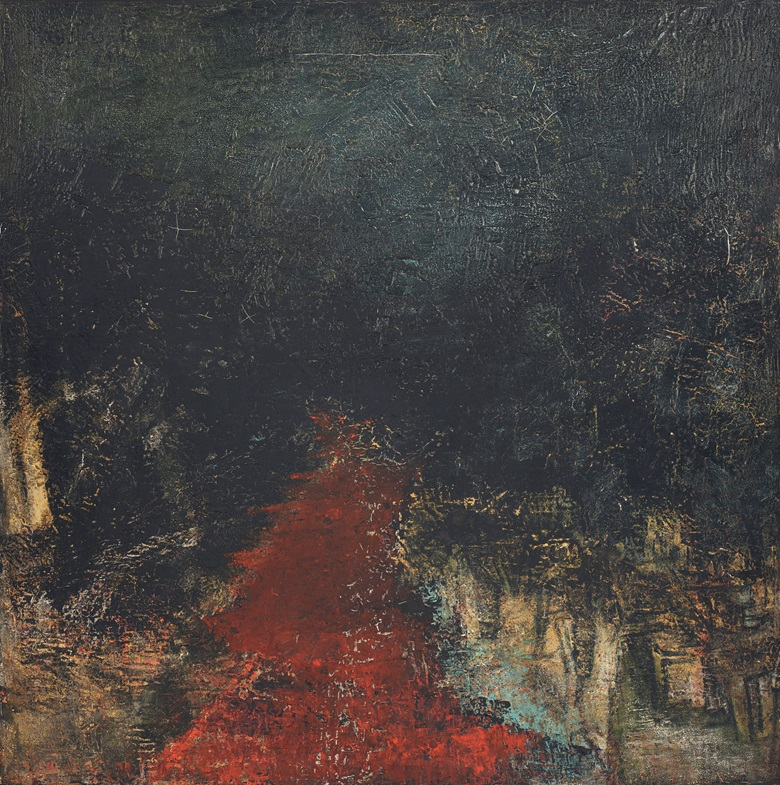 Akbar Padamsee (1928-2020), Untitled (Landscape), 1964.  Oil on canvas. 31½ x 31½ in (80 x 80 cm). Estimate $150,000-200,000. Offered in South Asian Modern + Contemporary Art on 18 March 2020 at Christie's in New York