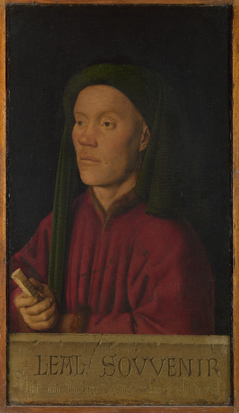 Photographed before its recent restoration Jan van Eyck (c. 1390-1441), Portrait of a Man (Léal souvenir or Tymotheos), 1432. Oil on panel. 33.3 x 18.9 cm. The National Gallery, London. © The National Gallery, London