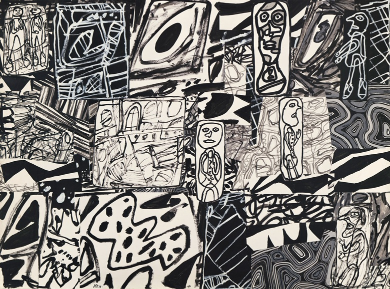 Jean Dubuffet (1901-1985), Panorama, executed on 20 January 1978. Acrylic and collage on paper mounted on canvas. 82¾ x 111⅝ in (210.2 x 283.4 cm). Sold for £2,171,250 on 12 February 2020 at Christie's in London