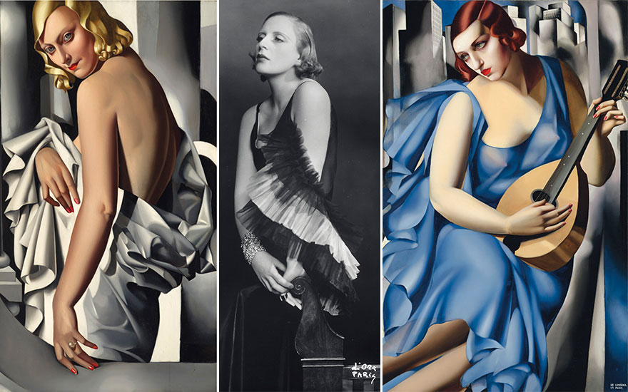 (Left) Tamara de Lempicka (1898-1980), Portrait de Marjorie Ferry, painted in 1931 (detail). Estimate £8,000,000- £12,000,000. Offered in the Impressionist and Modern Art Evening Sale on 5