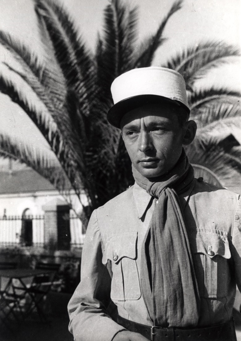 Hartung the legionnaire in Sidi Bel Abbès, Algeria, in 1940. Photo Collection Fondation Hartung-Bergman, Antibes. Photographer unknown