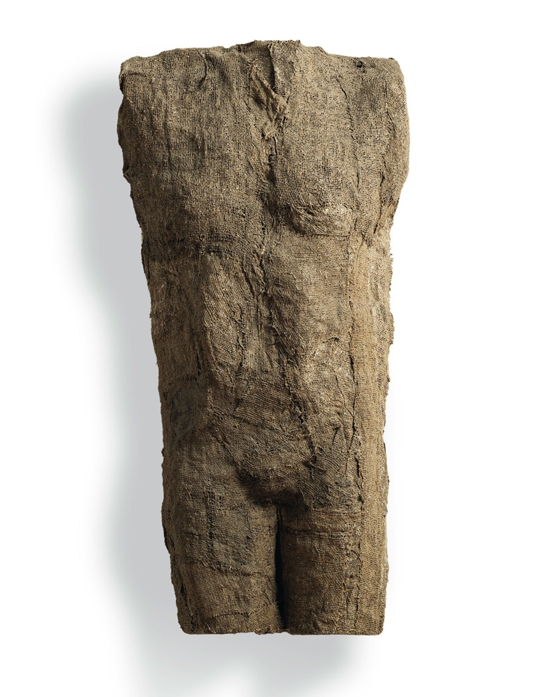 Magdalena Abakanowicz (1930-2017), Untitled, executed in 1976. Burlap and resin. 37⅜ x 18¼ x 6¾ in (95 x 46.5 x 17 cm). Estimate £80,000-120,000. Offered in the Post-War and Contemporary Art Evening Sale on 12 February 2020 at Christie's in London