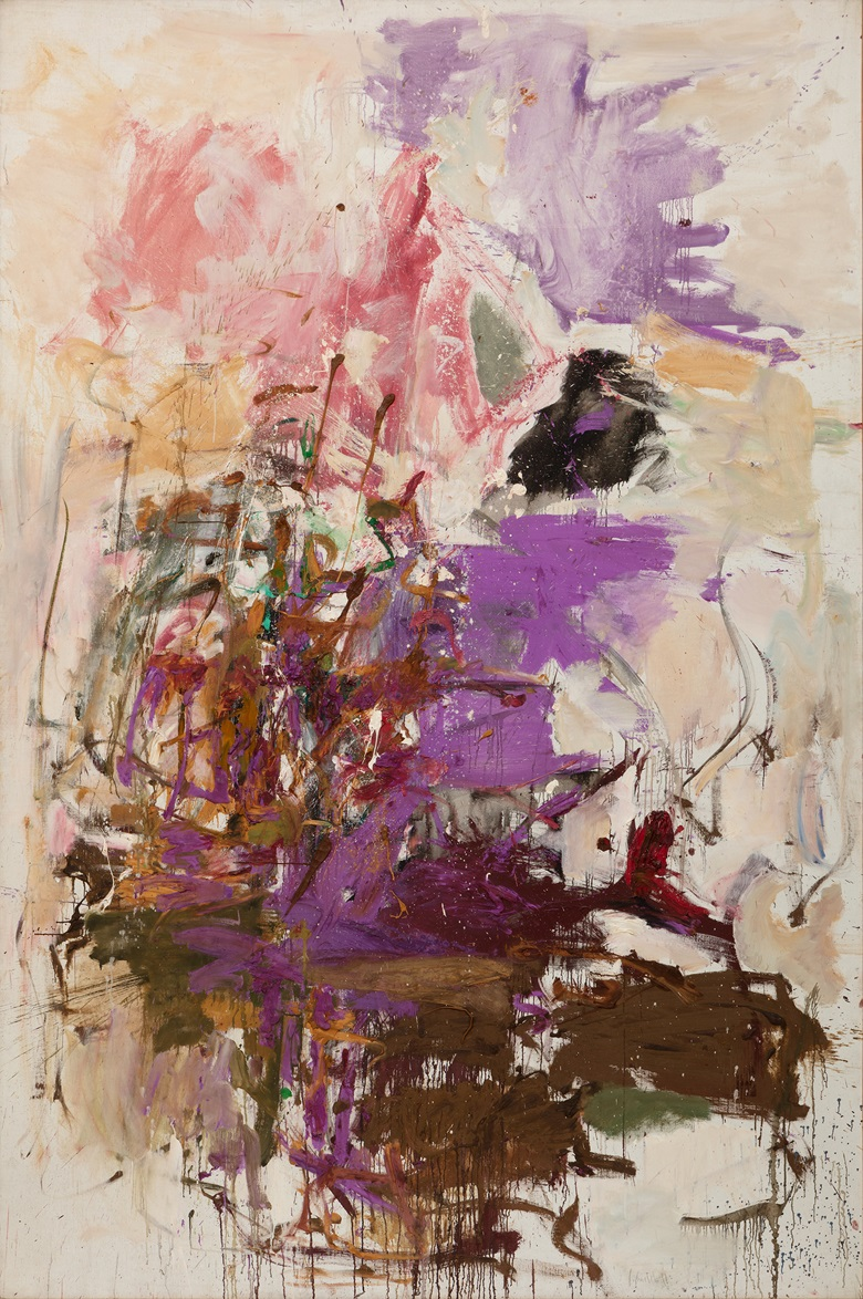 Joan Mitchell, Untitled, 1961. Oil on canvas. Unframed 118½ x 78¾ x 1¼ in (300.99 x 200.03 x 3.18 cm). Collection of the Modern Art Museum of Fort Worth, Gift of Anne and John Marion