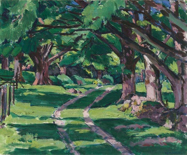 Francis Campbell Boileau Cadell, R.S.A., R.S.W. (1883-1937), The Avenue, Auchnacraig, circa 1927. Oil on canvas. 25 x 30  in (63.5 x 76.2  cm). Sold for £83,750 on 23 November 2016 at Christie's in London
