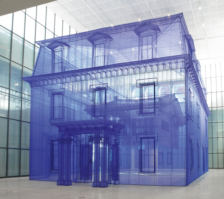 Do Ho Suh,Home within Home within Home within Home within Home, 2013. Polyester fabric, metal frame. 602.36 x 505.12 x 510.63 in (1530 x 1283 x 1297 cm).© Do Ho Suh. Courtesy the artist and Lehmann Maupin, New York, Seoul and Hong Kong