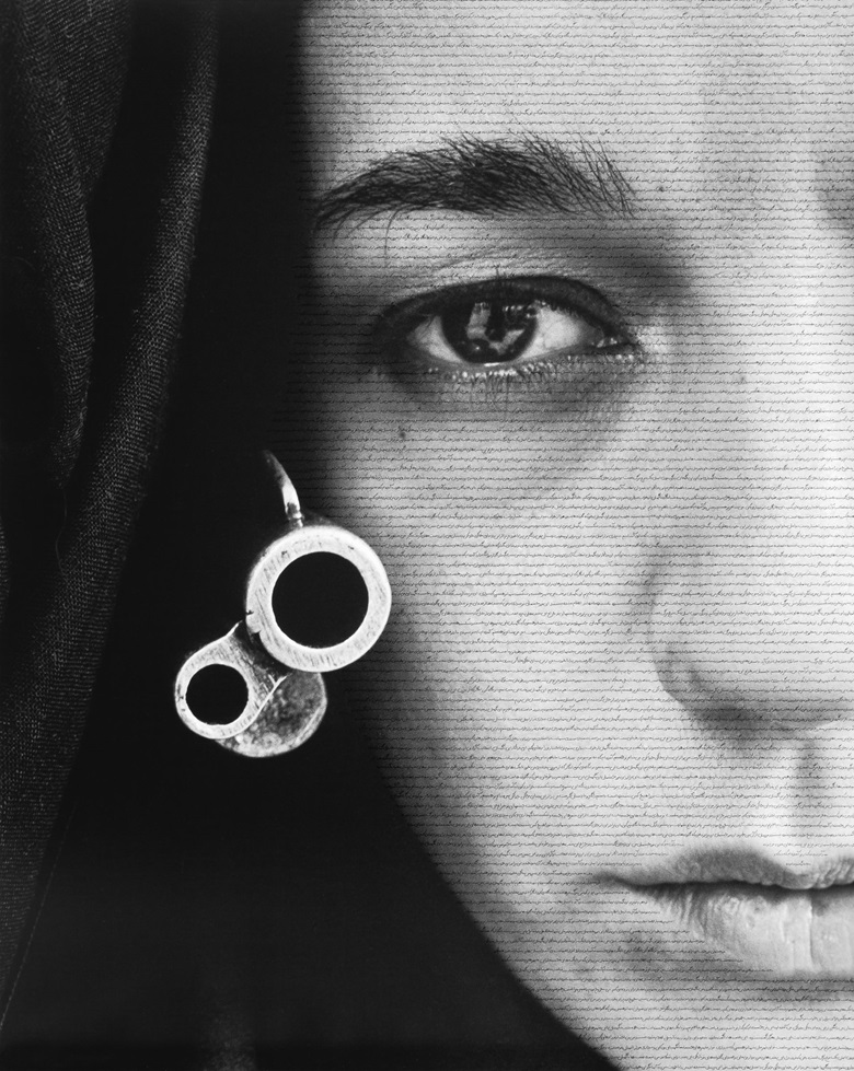 Shirin Neshat, Speechless, 1996. Gelatin silver print and ink. 66 x 52½ in (167.6 x 133.4 cm). Copyright Shirin Neshat. Courtesy the artist and Gladstone Gallery, New York and Brussels