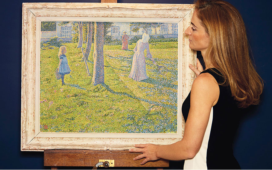 How van Rysselberghe's paintin