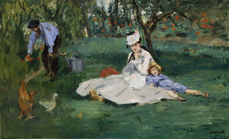 Edouard Manet, The Monet Family in Their Garden at Argenteuil, 1874. Oil on canvas. 61 x 99.7 cm. The Metropolitan Museum of Art, New York. Bequest of Joan Whitney Payson, 1975. Photo © The Metropolitan Museum of Art  Art Resource  Scala, Florence