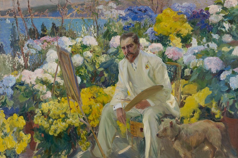 Joaquín Sorolla y Bastida, Louis Comfort Tiffany, 1911. Oil on canvas, 162.6 x 238.8 cm. Gift of Mrs Francis M. Weld (née Julia DeForest Tiffany), 1950. Courtesy of the Hispanic Society of America, New York