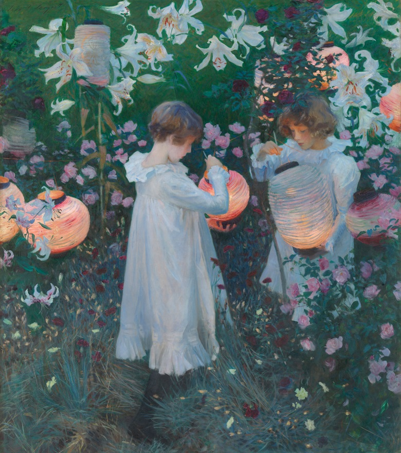 John Singer Sargent (1856-1925), Carnation, Lily, Lily, Rose, 1885-86. Oil on canvas. 218.5 x 197 cm. Photo © Tate