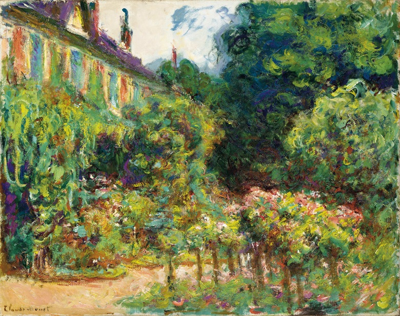 Claude Monet (1840-1926), La Maison de lartiste à Giverny, 1913. Oil on canvas. 28¾ x 36¼ (73 x 92  cm). Sold for $4,711,500 on 3 November 2004 at Christie's in New York