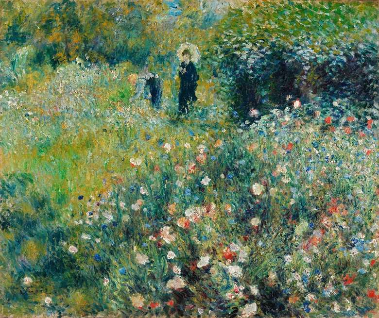 Pierre-Auguste Renoir, Woman with a Parasol in a Garden, 1875. Oil on canvas. 54.5 x 65 cm. Museo Nacional Thyssen-Bornemisza, Madrid. Photo Bridgeman Images