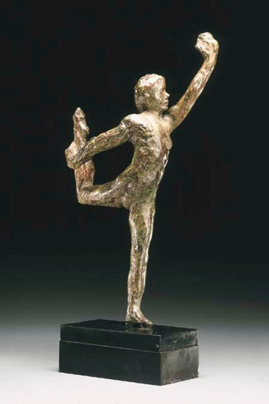 Auguste Rodin (1840-1917), Mouvement de danse E, conceived circa 1911; this bronze version cast by the Georges Rudier foundry, 1956. Bronze with green and brown patina. Height 14⅝ in (37.2 cm). Sold for $33,460 on 5 May 2004 at Christie's in New York