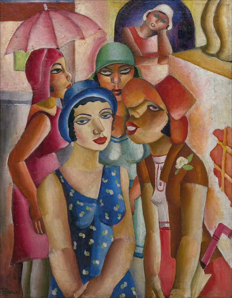 Emiliano Di Cavalcanti (1897-1976), Five Girls from Guarantinguetá, 1930. Oil on canvas. 90.5 x 70 x 2.5 cm. MASP.00316. Photo João Musa