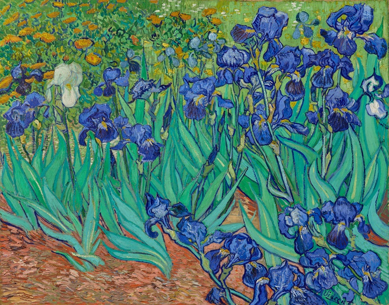 Vincent van Gogh, Irises, 1889. Oil on canvas. 74.3 x 94.3 cm. 90.PA.20. The J. Paul Getty Museum, Malibu, California. Digital image courtesy of the Getty's Open Content Program
