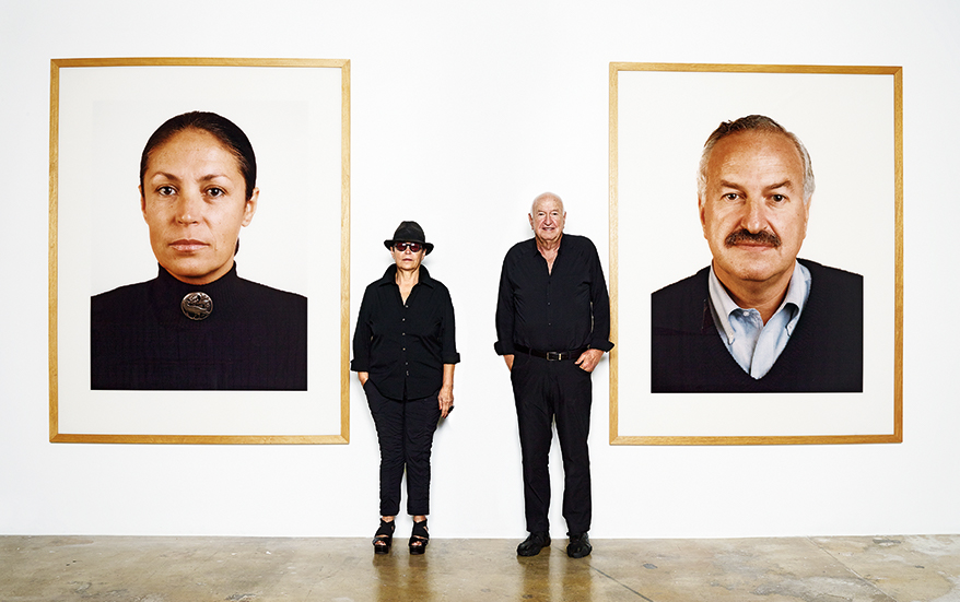 Mera and Donald Rubell with two works by Thomas Ruff, Portrait (Mrs Rubell), 1998 and Portrait (Mr Rubell), 1998. Artworks © DACS 2020. All photographs by James Mollison unless stated