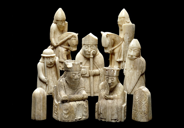 The Lewis Chessmen, 1150-1145. Photo © The Trustees of the British Museum