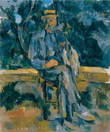 Paul Cézanne, Portrait de paysan,1905-1906. Oil on canvas. 64.8 x 54.6 cm. Museo Thyssen-Bornemisza, Madrid