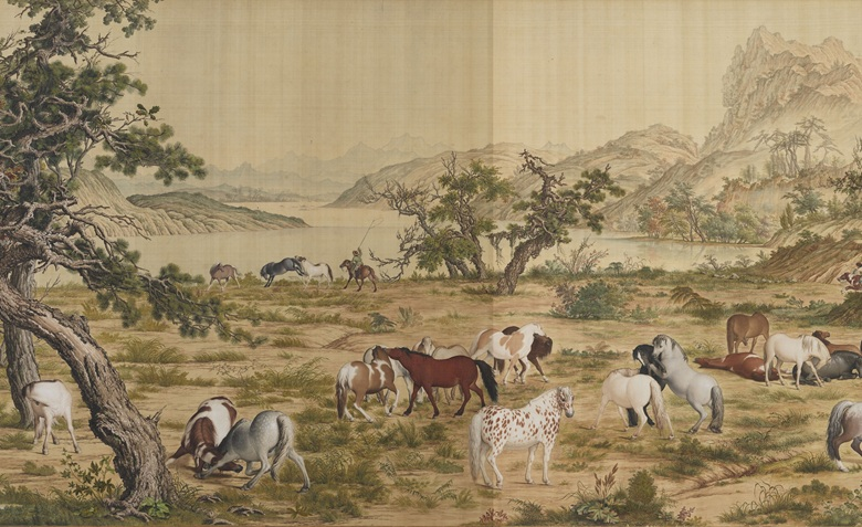 Lang Shining (1688-1766), One Hundred Horses (detail). Handscroll, ink and colours on silk. 94.5 x 776 cm. National Palace Museum, Taipei. Photo © National Palace Museum. All Rights Reserved