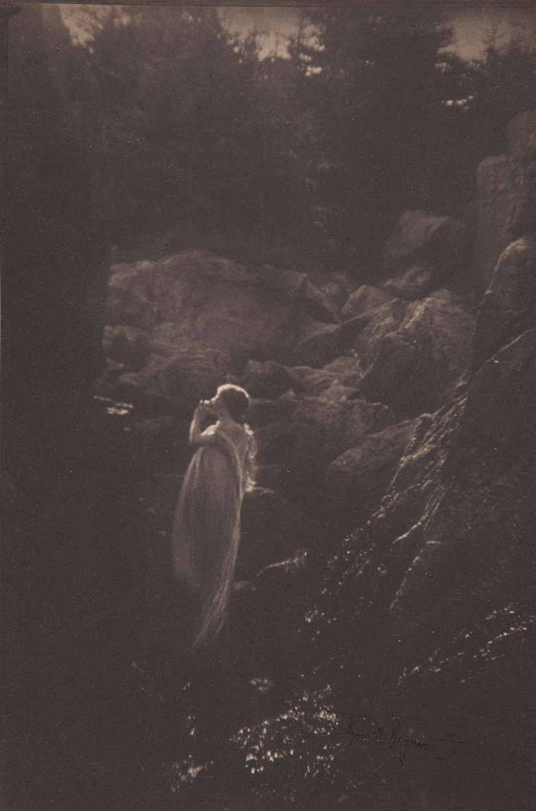 Anne Brigman, Untitled, c. 1910. Platinum print, mounted on tissue. Sheet 9½ x 6¼ in (24 x 15.8 cm). Estimate $6,000-8,000. Offered in From Pictorialism into Modernism 80 Years of Photography, 30 April-13 May, Online