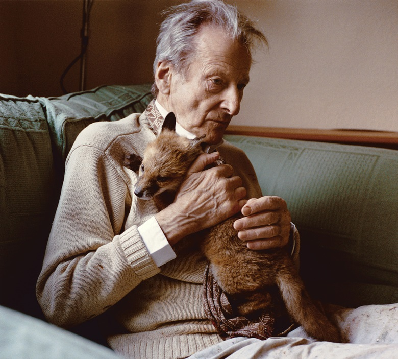 The Royal Academy of Arts' podcast includes an episode in which Tracey Emin remembers Lucian Freud together with his assistant, David Dawson. Dawson took this photograph, Lucian with Fox Cub, in 2005. Photo Bridgeman Images