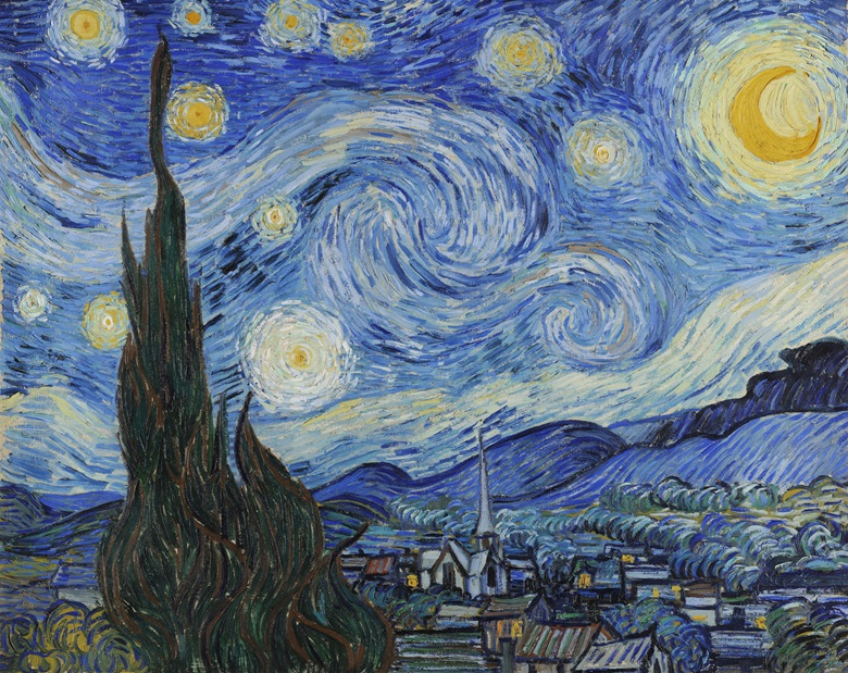 The Way I See It offers a cosmologist's view of Vincent van Gogh's The Starry Night, June 1889. Oil on canvas, 73.7 x 92.1 cm. Museum of Modern Art, New York. Photo Bridgeman Images