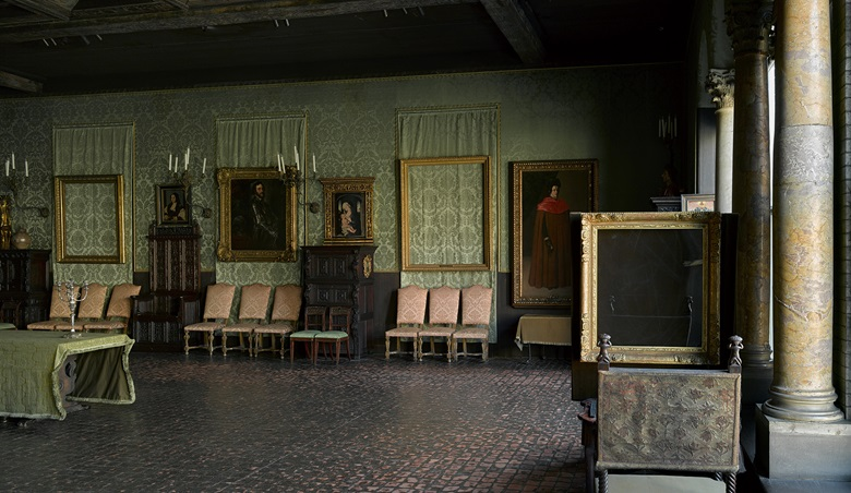 The Dutch Room at the Isabella Stewart Gardner Museum in Boston, from which 13 masterpieces were stolen in 1990. Photo Isabella Stewart Gardner Museum, Boston.