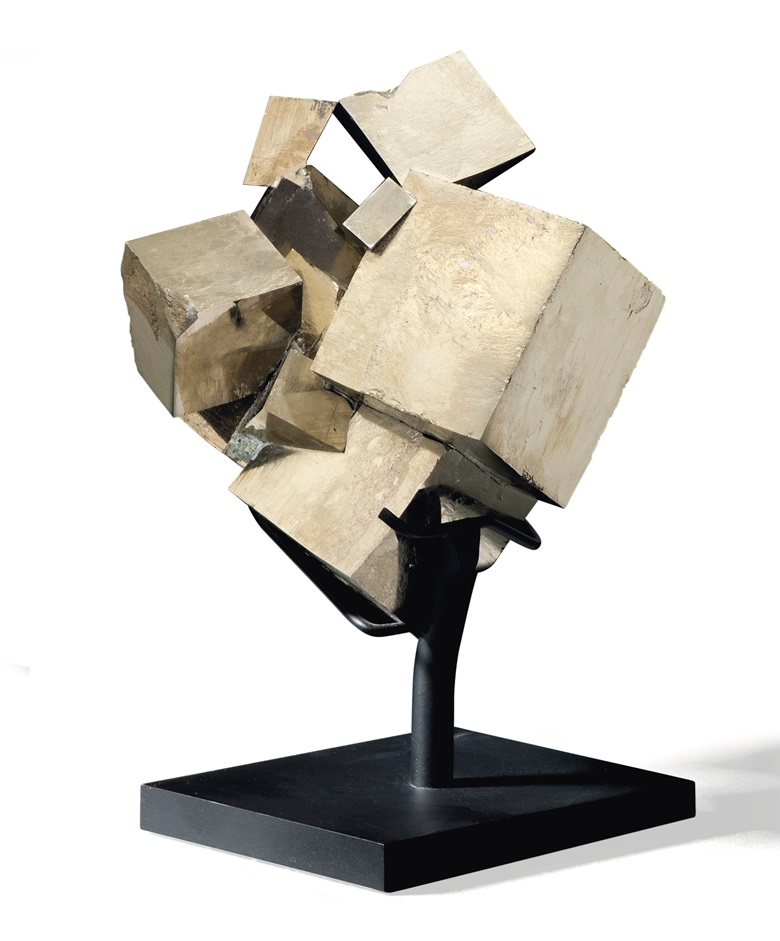 A specimen of pyrite, Spain. 5in (13cm) high. Estimate £2,000-3,000. Offered in Sculpted by Nature Fossils, Minerals and Meteorites, 4-21 May 2020, Online