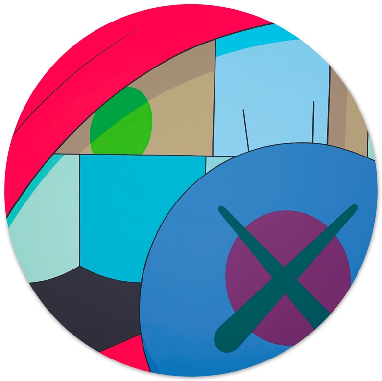 KAWS (b. 1974),UNTITLED, 2014. Acrylic on canvas. Diameter 96 in (243.8 cm). Offered for private sale at Christie's. View post-war and contemporary works currently offered for private sale at Christie's