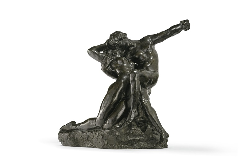 Auguste Rodin (1840-1917), Eternel Printemps, conceived circa 1884; this bronze version cast in 1946. Bronze with dark brown patina. Height 25 in (63.4 cm). Estimate $300,000-500,000. Offered in La Vie en Rose, 12-28 May, Online