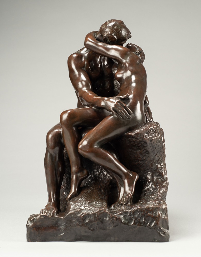 Auguste Rodin (1840-1917), Baiser, 3ème réduction, conceived in 1886; this example cast between 1901 and 1918. Bronze with brown patina. Height 15½ in (39.4 cm). Offered for private sale at Christie's. View Impressionist and Modern art currently available for private sale at Christie's