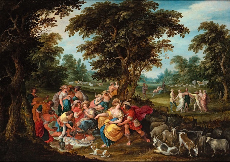 Frans Francken II (1581-1642), Arcadia A Pastoral Landscape with Shepherds and Shepherdesses Picnicking, c. 1626-32. Oil on panel. 28⅝ x 41⅛ in (72.7 x 104 cm). Price on request. Offered for private sale at Christie's. View Old Masters currently offered for private sale at Christie's