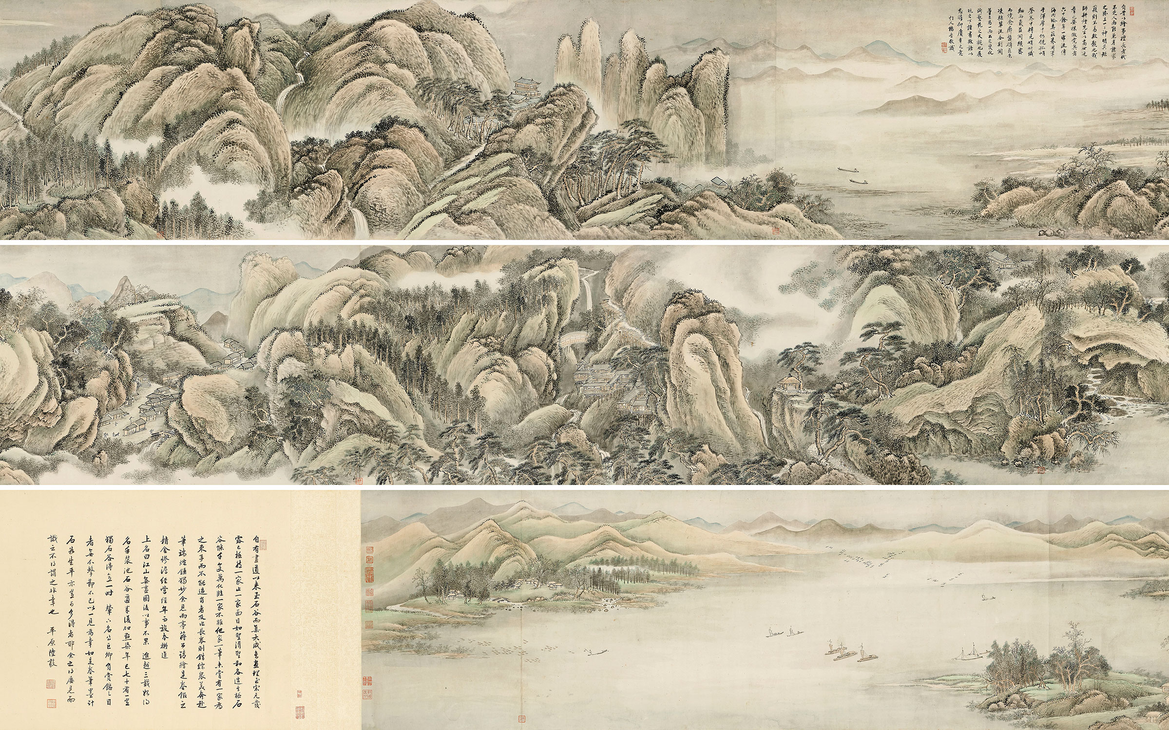 Wang Hui, (1632-1717), (detail) Endless Streams and Mountains. Handscroll, ink and colour on paper. 21 x 480½ in (53.2 x 1220.5 cm). Sold for HK$28,925,000 on 8 July at Christie's in Hong