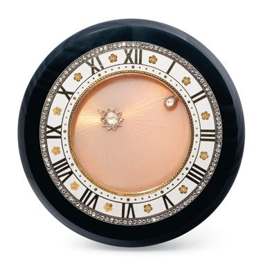 Early 20th-century onyx, diamond and enamel 'planet' semi-mystery desk clock, Cartier, circa 1918. Estimate CHF120,000-180,000. Offered in A lifetime of collecting – A Collection of 101 Cartier Clock, 7-21 July 2020, Online