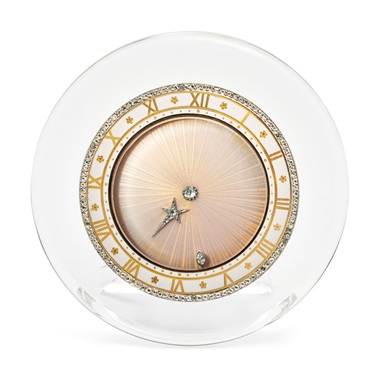 Early 20th-century rock crystal, enamel and diamond 'Comet' semi-mystery clock, Cartier, circa 1920. Estimate CHF70,000-100,000. Offered in A lifetime of collecting – A Collection of 101 Cartier Clock, 7-21 July 2020, Online