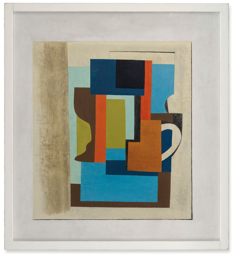 Ben Nicholson, 1945 (Still Life), 1945. Oil and pencil on canvas laid on paper. 24 x 22 in (61 x 55.9 cm). Estimate £500,000-800,000. Offered in ONE London on 10 July at Christie's in London