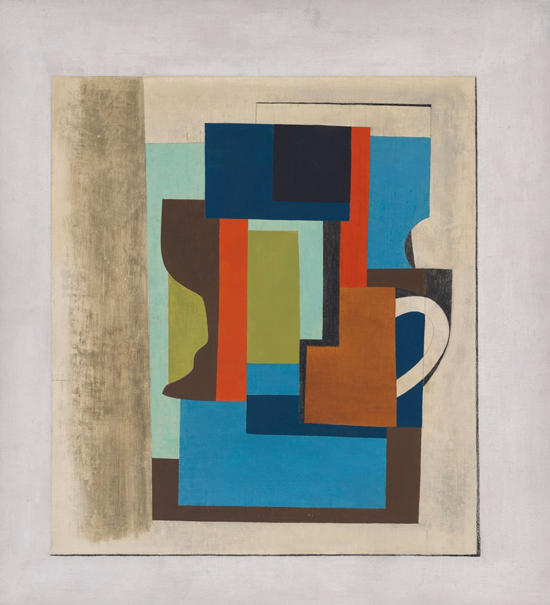 Ben Nicholson, 1945 (Still Life), 1945. Oil and pencil on canvas laid on paper. 24 x 22 in (61 x 55.9 cm). Estimate £500,000-800,000. Offered in Modern British Art on 29 September 2020 at Christie's in London
