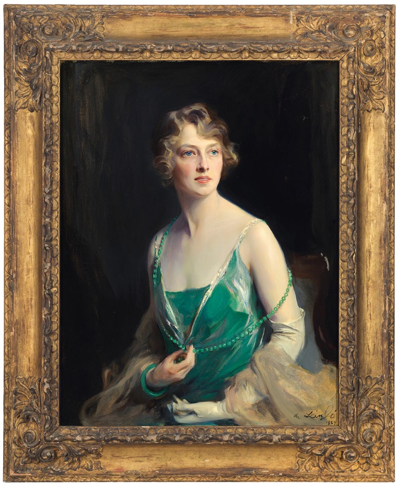 Philip de László (1869-1937), Portrait of Lady Apsley, 1924. Oil on canvas. 37¼ x 28½ in (94.6 x 72.5 cm). Estimate £25,000-35,000. Offered in Gloria Property from the late Dowager Countess Bathurst on 22 July at Christie's in London