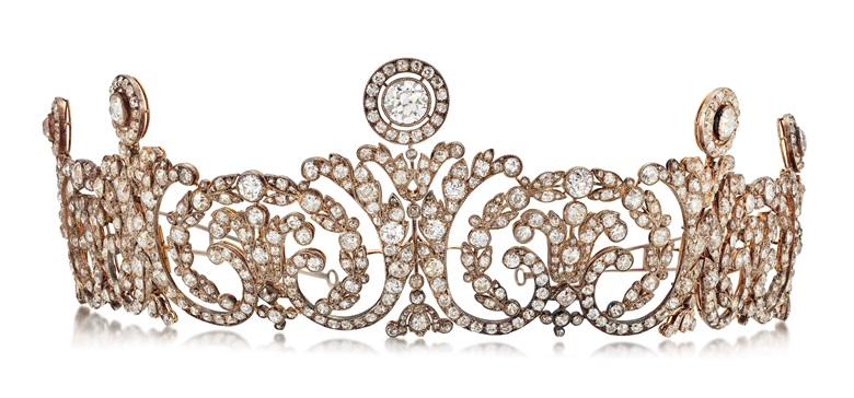 Early 20th century diamond tiara, attributed to Cartier, circa 1910. Estimate £200,000-300,000 (US$260,000-390,000). Offered in Important Jewels on 30 July at Christie's in London