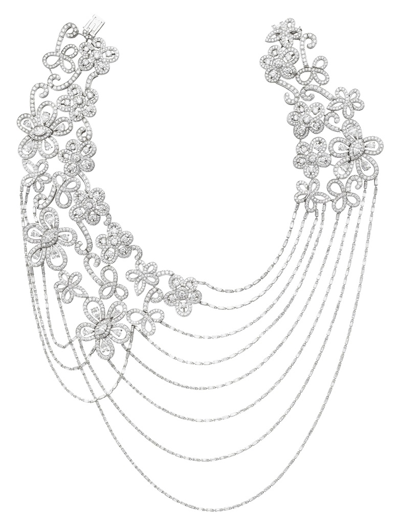 Diamond Dentelle necklace by Van Cleef & Arpels. White gold. Diamonds approximately 45.00-50.00 carats total weight. Price on request. View Jewellery currently offered for private sale at Christie's