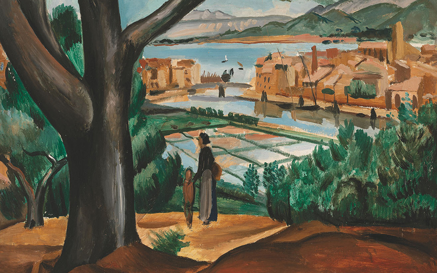 André Derain (1880-1954), Les Salins de Martigues, 1913 (detail). 28¾ x 23½ in (73.1 x 59.8 cm). Estimate £50,000-70,000. Offered in Joie de Vivre Modern Art and the