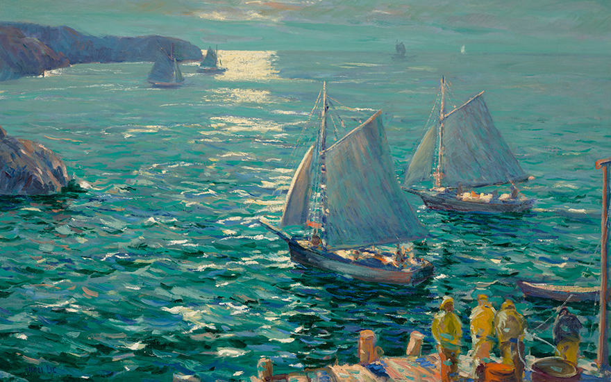 Jonas Lie (1880-1940), On the Wings of the Morning, circa 1924. 30 x 45 in (76.2 x 114.3 cm). Estimate $60,000-80,000. Offered in American Art Online, 23 July to 7 August 2020, online