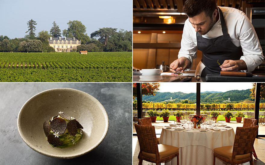 Four fine winery restaurants t