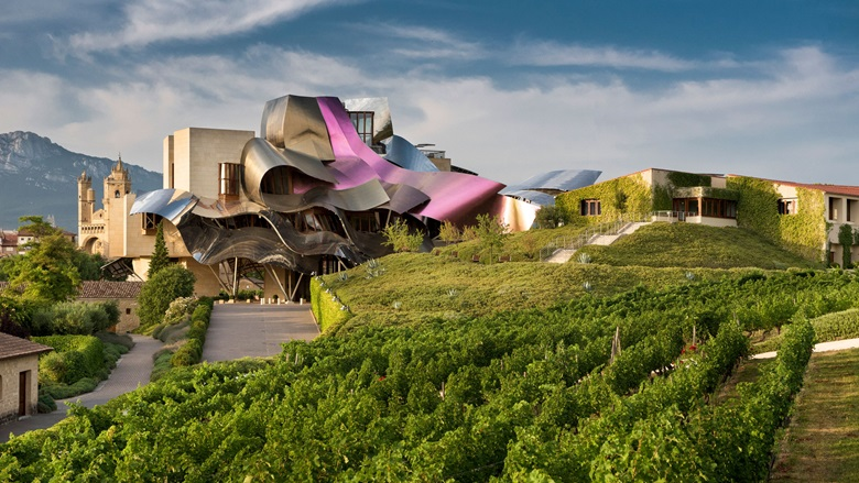 The winery, restaurant and hotel at Marqués de Riscal were designed by Frank Gehry. Photo Courtesy of Marqués de Riscal
