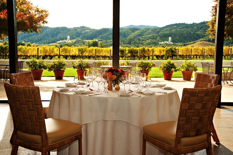 The scene is set for dining close to the vineyards at Robert Mondavi Winery. Photo Courtesy of Robert Mondavi Winery