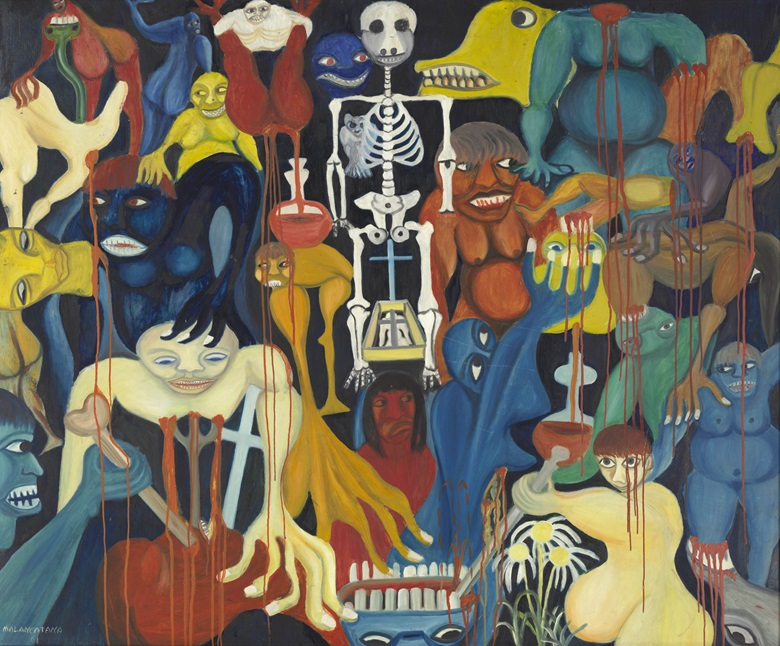 Malangatana Ngwenya, The Fountain of Blood (A fonte de sangue), 1961. The Cleveland Museum of Art, Gift of Dr. and Mrs. Lloyd H. Ellis Jr.