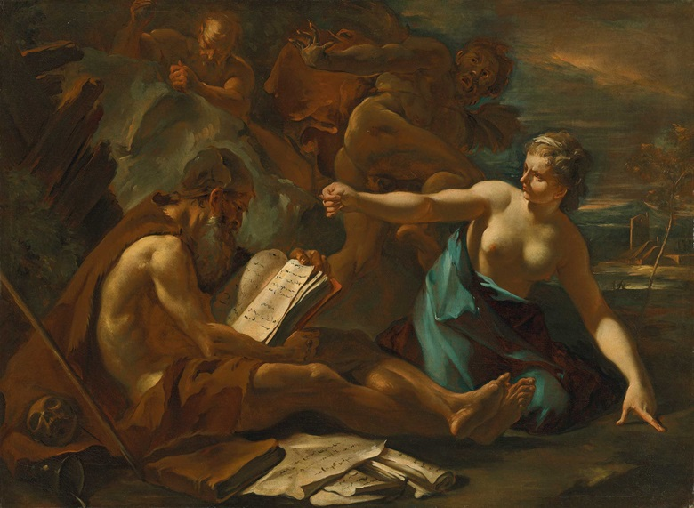 Sebastiano Ricci (1659-1734), The Temptation of Saint Anthony. Oil on canvas, 36½ x 50 in (92.7 x 126.8 cm). Estimate £25,000-35,000. Offered in Discovering Old Masters The Legacy of Piero Corsini, 23 September-7 October 2020, Online